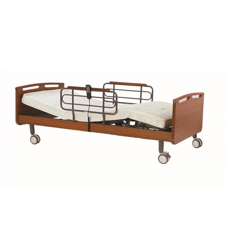 Two Motors Automated Hospital Bed For Home , Light Height Adjustable Hospital Bed