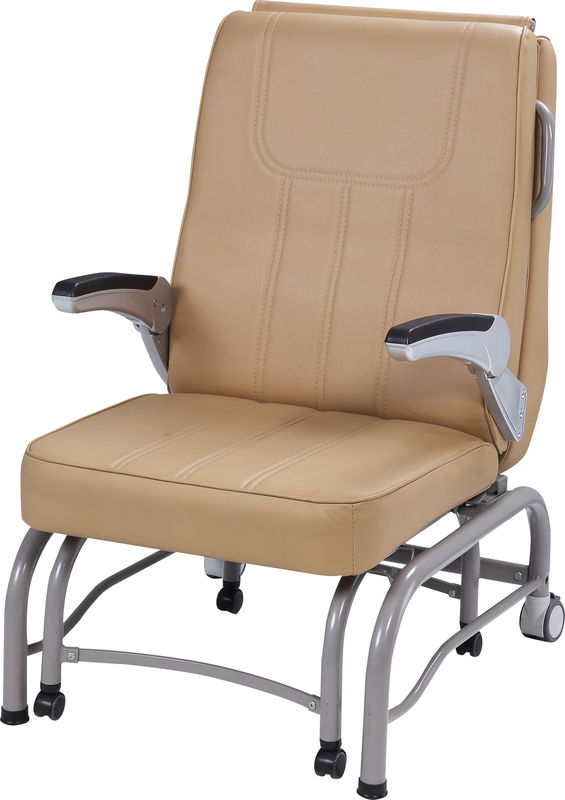 620 * 720 * 940mm Hospital Bed Accessories , Sleeping Accompany Hospital Recliner Chair
