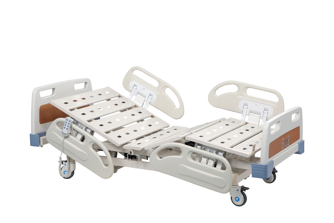 Hospital Ajustable Electric Medical Patient Bed PP Head Steel Frame