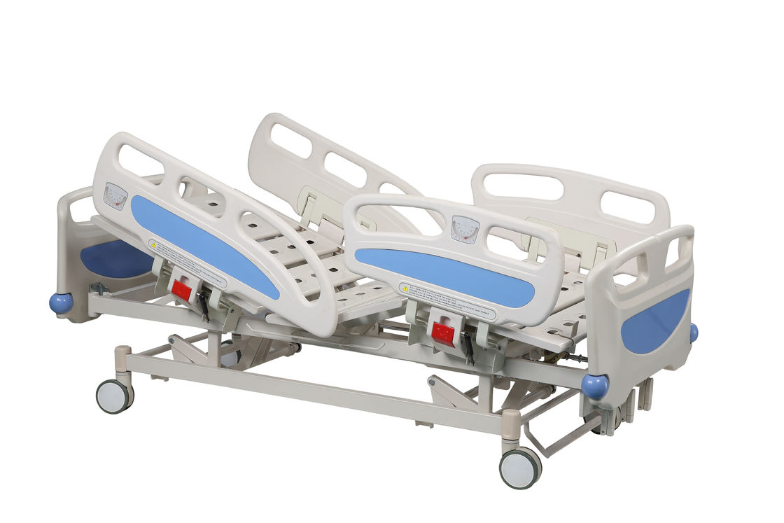 Three Crank Manual Medical Equipment Beds Patient Bed For Home Nursing