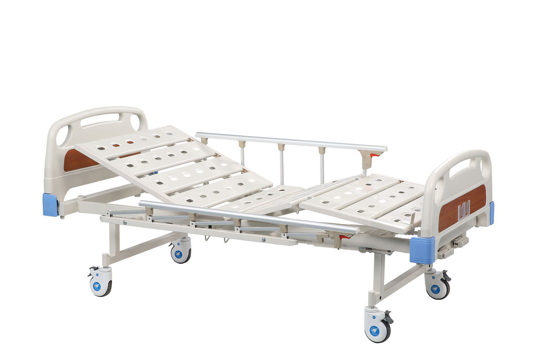 Medical Adjustable Bed With Side And Casters 2 Years Warranty